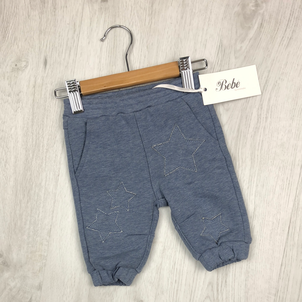 BEBE DUKE STAR TRACKPANT BLUE MARLE