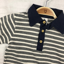 Load image into Gallery viewer, KORANGO CLASSIC STRIPE POLO CHARCOAL