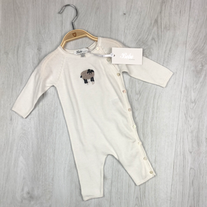 BEBE SHEEP KNIT ROMPER