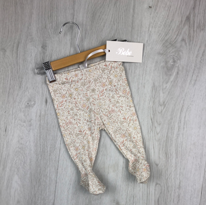 BEBE LEGGINGS WITH FEET PENNY PRINT