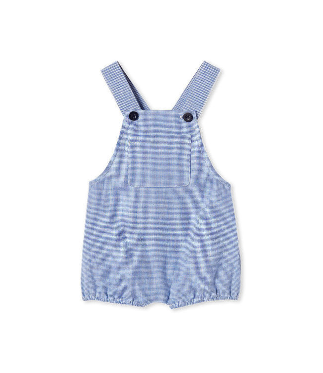 MILKY CHECK OVERALL BLUE WHITE
