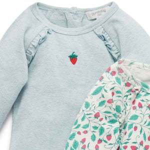 Purebaby Strawberry Bodysuit 2 Pack