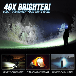 TacElite Zoomable Flashlight Lantern With Magnetic Base