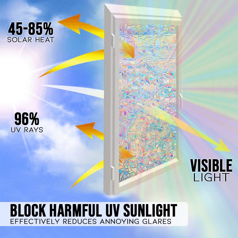 3D Iridescent Window Shielding Film