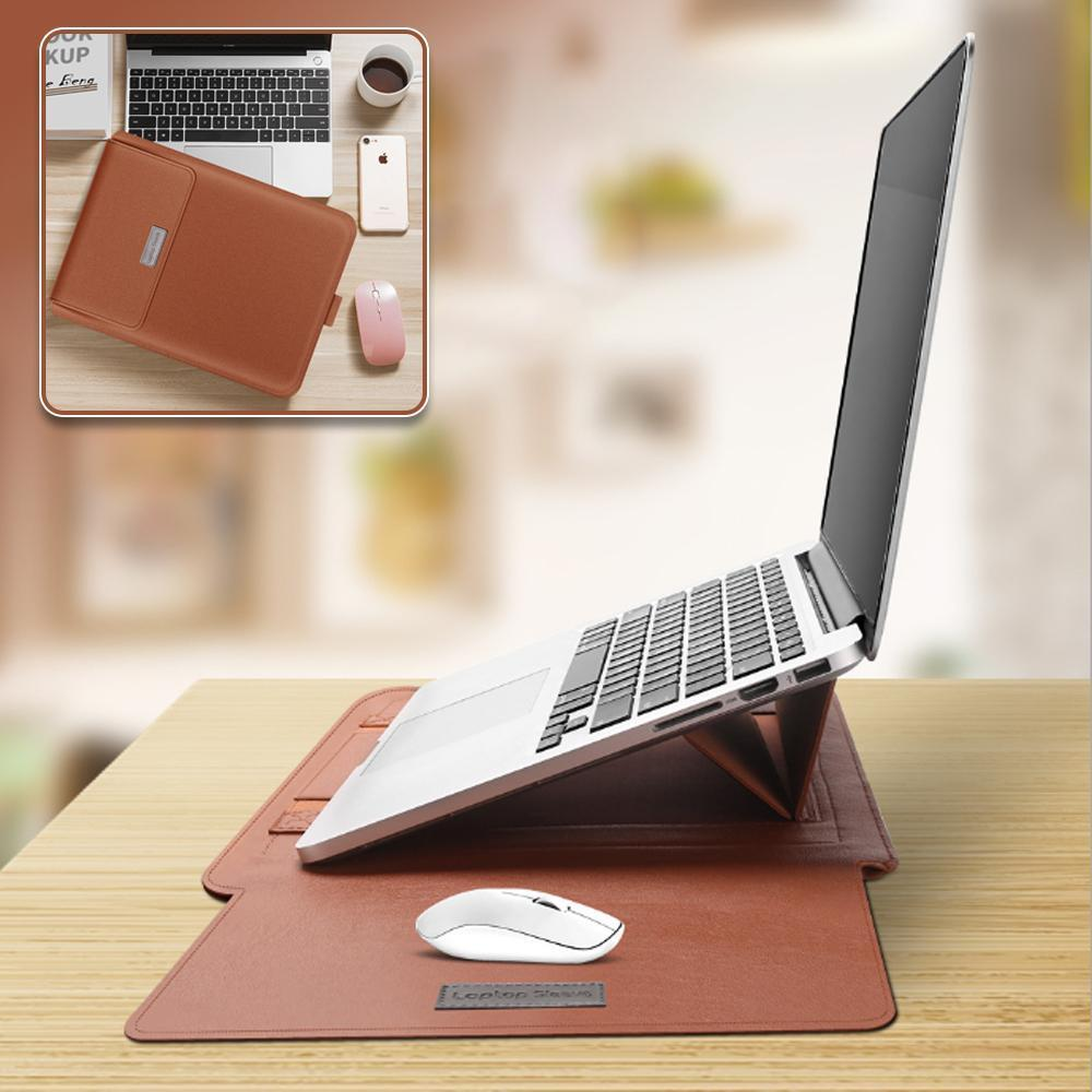 4-In-1 Leather Notebook Computer Storage Bag