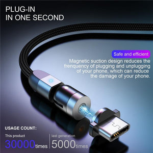 360 Fast Charging Magnetic Cable