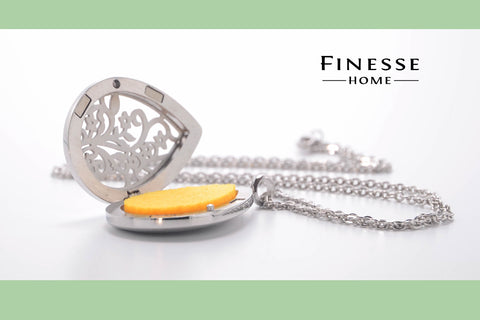 Aroma jewellery finesse home fragrances finesse home aroma pendants are made from surgical grade stainless steal with a magnetic clasp the pendant is resistant to tarnishing and the pad stays aloadofball Gallery