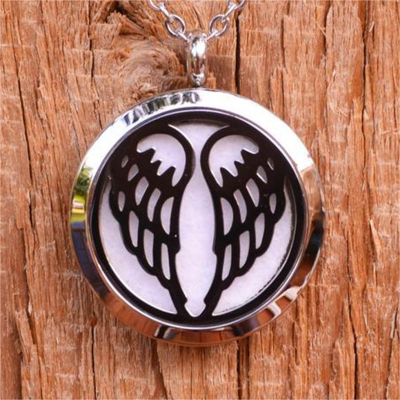 Angel Wings Aroma Pendant Necklace