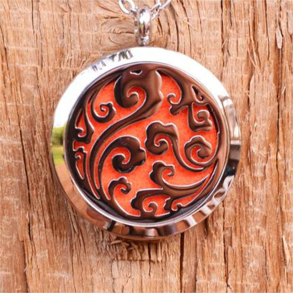 Scroll Aroma Pendant Necklace