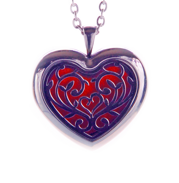 Heart Aroma Pendant Necklace