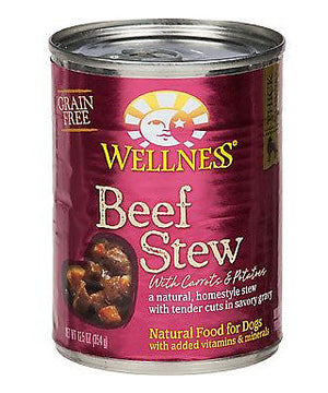 Wellness Grain Free Natural Beef Stew with Carrots & Potato Wet Canned Dog Food