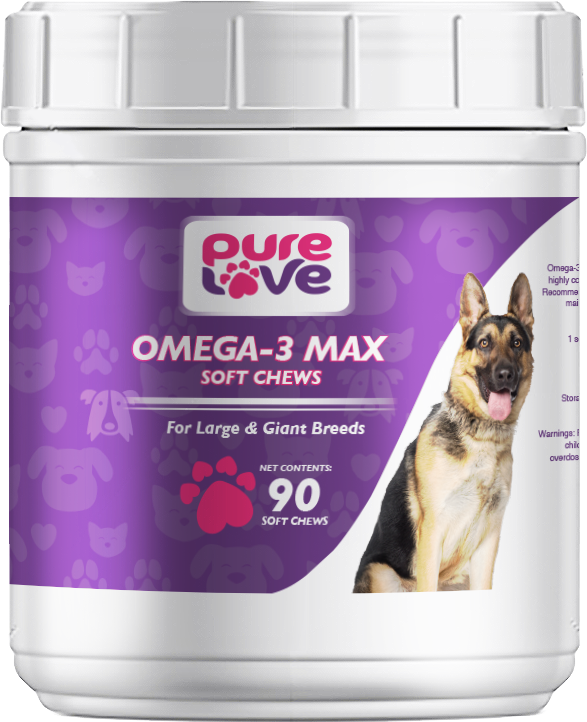 Pure Love Omega-3 Max Soft Chews for Large and Giant Dogs