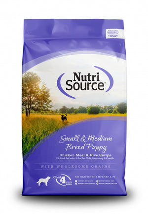 NutriSource Small & Medium Breed Puppy Chicken & Rice Dry Dog Food