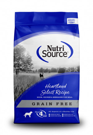 NutriSource Grain Free Heartland Select with Bison Dry Dog Food
