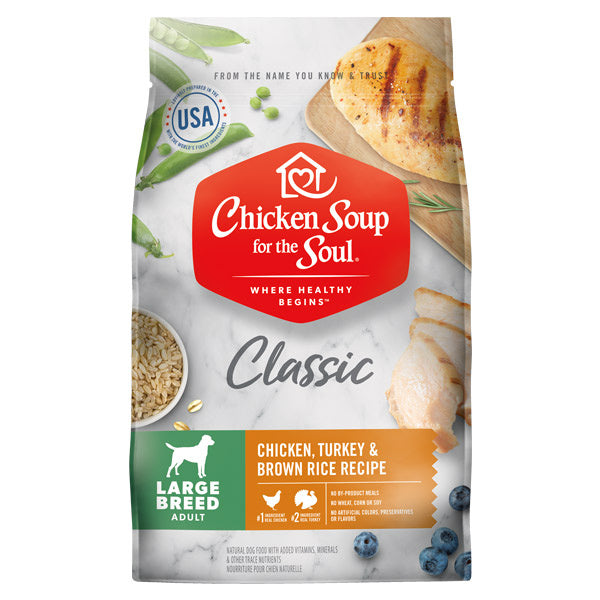 Chicken Soup ForThe Soul Large Breed Adult Recipe with Chicken, Turkey & Brown Rice Dry Dog Food