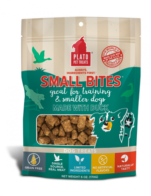 Plato Small Bites Duck Dog Treats