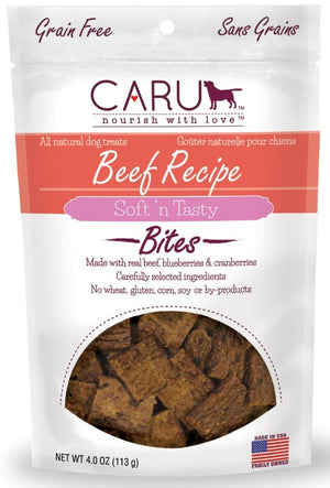 Caru Natural Grain Free Beef Recipe Bites for Dogs