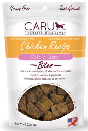 Caru Natural Grain Free Chicken Recipe Bites for Dogs