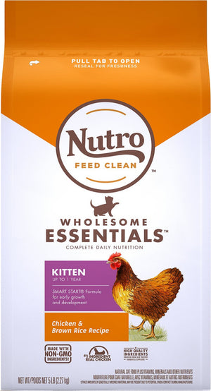 Nutro Wholesome Essentials Farm Raised Kitten Chicken and Brown Rice Dry Cat Food