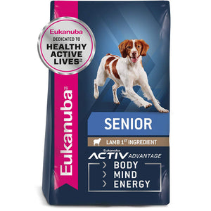 Eukanuba Senior Lamb & Rice Dry Dog Food