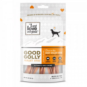 I and Love and You Grain Free Good Golly Gullet Stix Dog Treats