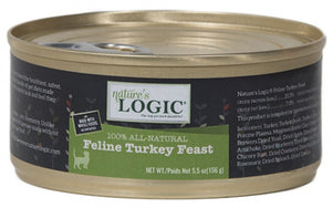 Nature's Logic Feline Grain Free Turkey Feast Canned Cat Food