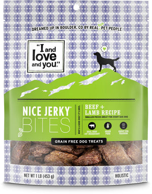 I And Love And You Nice Jerky Grain Free Beef & Lamb Dog Treats
