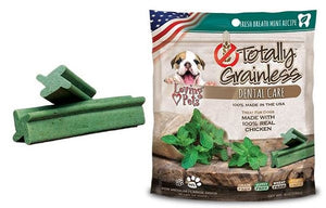 Loving Pets Totally Grainless Grain Free Fresh Breath Mint Recipe Dental Care Dog Treats