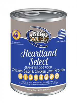 NutriSource Grain Free Heartland Select Formula Canned Dog Food