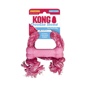 KONG Puppy Goodie Bone with Rope XS Dog Toy