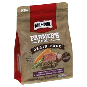 Milk-Bone Farmer's Medley Grain Free Biscuits with Lamb and Spring Vegetables Dog Treats