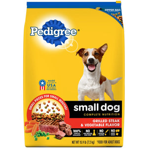 Pedigree Small Dog Adult Steak and Vegetable Dry Dog Food