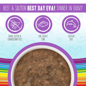 Weruva BFF Oh My Gravy Best Day Eva Grain Free Beef & Salmon in Gravy Canned Cat Food