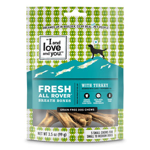 I and Love and You Fresh All Rover Small Breath Bones Dog Chews