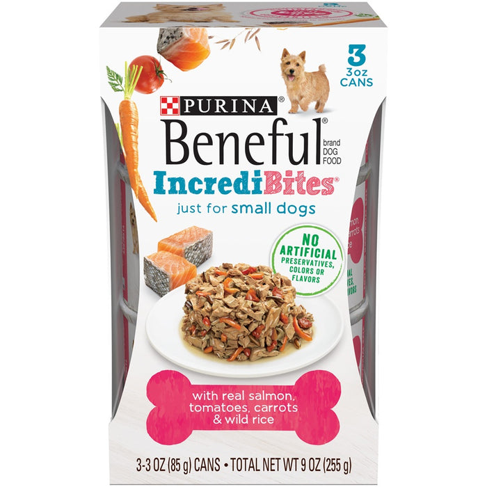 Beneful IncrediBites for Small Dogs with Salmon, Tomatoes, Carrots & Wild Rice Canned Dog Food