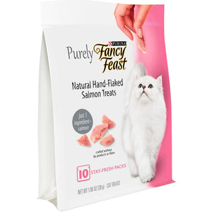 Fancy Feast Purely Natural Hand-Flaked Salmon Cat Treats