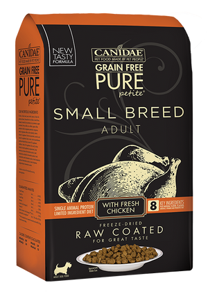 Canidae PURE Petite Small Breed Chicken Recipe Raw Coated Dry Dog Food