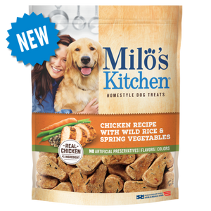 Milo's Kitchen Chicken with Wild Rice and Spring Vegetables Soft and Chewy Dog Treats
