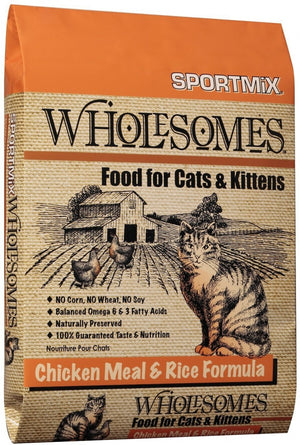 SPORTMiX Wholesomes Chicken Meal & Rice Recipe Dry Cat & Kitten Food