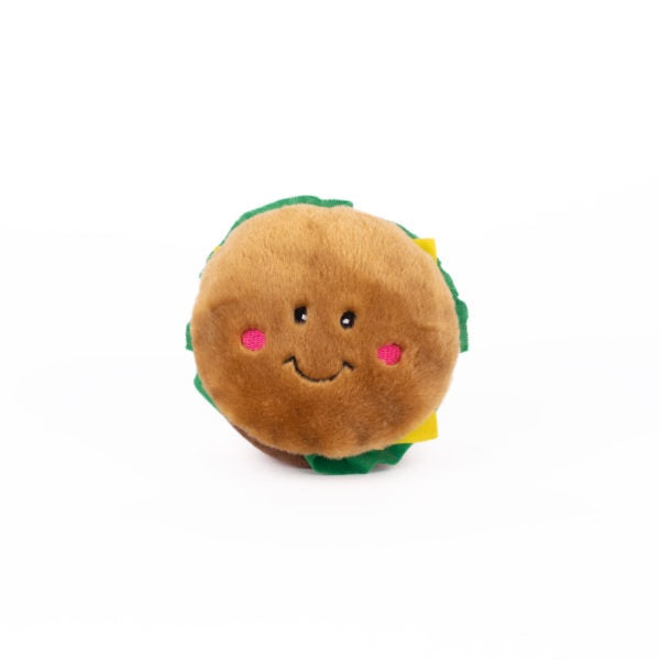ZippyPaws NomNomz Plush Hamburger Dog Toy