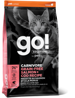 Petcurean GO! Solutions Carnivore Grain Free Salmon & Cod Recipe Dry Cat Food