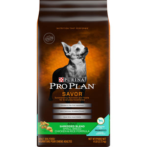 Purina Pro Plan Savor Shredded Blend Chicken & Rice Formula Adult Small & Toy Breed Dry Dog Food