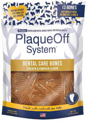 Proden PlaqueOff Dental Chicken & Pumpkin Dog Bones