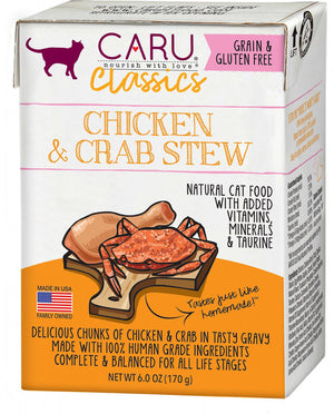 Caru Classic Grain Free Chicken & Crab Stew Recipe  Wet Cat Food