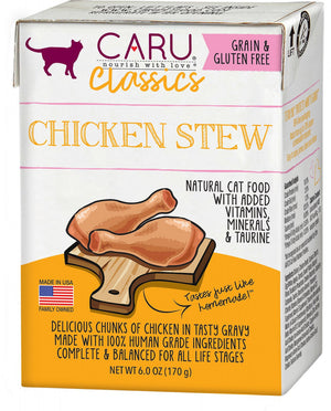 Caru Classic Grain Free Chicken Stew Recipe Wet Cat Food