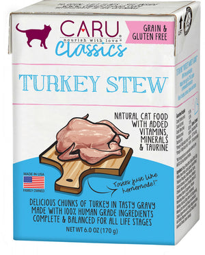Caru Classic Grain Free Turkey Stew Recipe Wet Cat Food