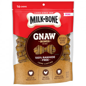 Milk-Bone GnawBones Peanut Butter & Chicken Long Lasting Mini Dog Treats