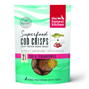 The Honest Kitchen Superfood Cod Crisps Cod & Strawberry Natural Dog Treats