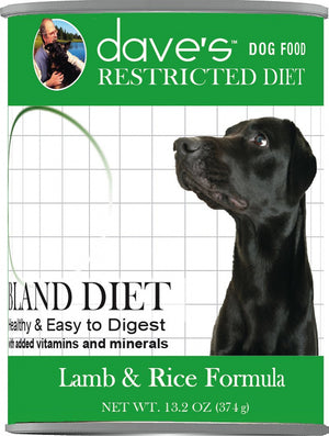 Daves Restricted Diet Bland Lamb & Rice Canned Dog Food