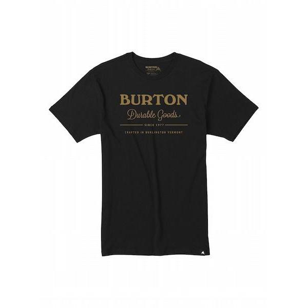 Burton Durable Goods T-Shirt, True Black/Gold-T-Shirt-Burton-S-